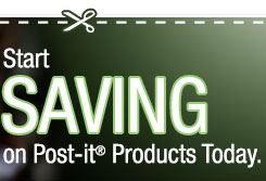 SAVE on Post-it(R) Products to Help You Start  This Year.