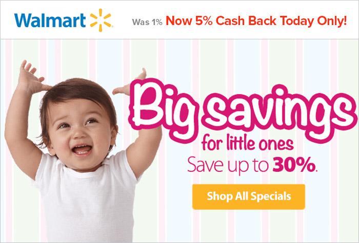 Walmart - 5% Cash Back