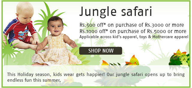 Shoppersstop: Flat 40% off on Mothercare, Upto 51% off on Toys + extra 500/1000 off