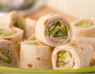 Easy Turkey-Tortilla Roll-Ups