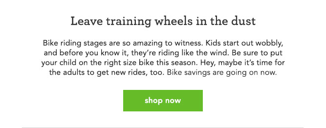 Leave training wheels in the dust