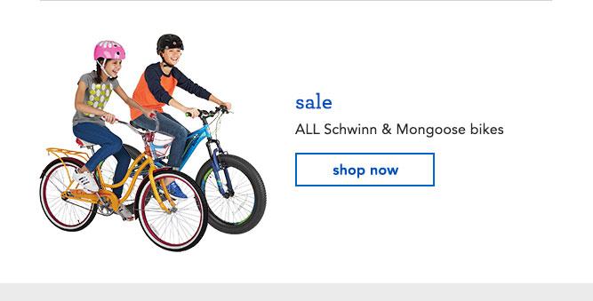 sale ALL Schwinn & Mongoose bikes