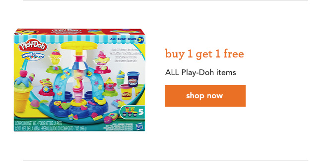 buy 1 get 1 free All Play-Doh items