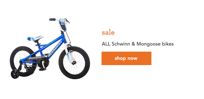 sale ALL Schwinn & Mongoose bikes